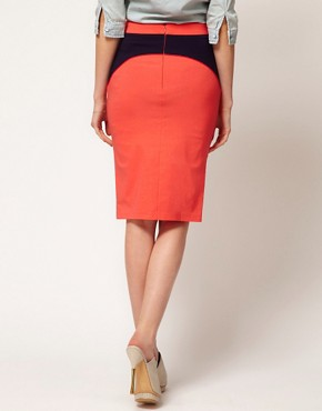 Image 2 ofASOS  Pencil Skirt With Contour Seam detail