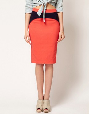 Image 4 ofASOS  Pencil Skirt With Contour Seam detail