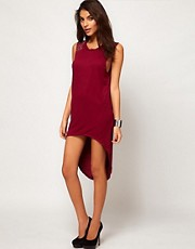 Glamorous Hi Lo Dress with Studded Shoulder