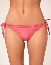 ASOS Asymmetric Double Frill Tie Side Bikini Pant