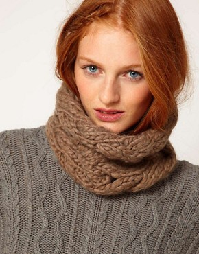 Image 1 ofMinerva Star Taupe Head And Neck Wrap