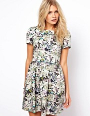 Oasis Floral Lantern Dress