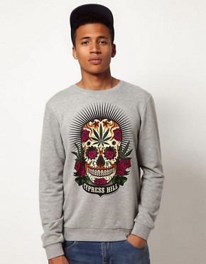 Image 1 ofASOS Sweatshirt With Cypress Hill Print