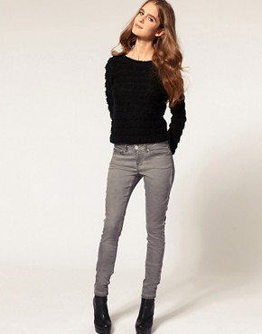Image 4 ofASOS Grey Skinny Jeans With Pigment Wash #4