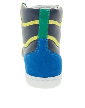 Image 2 ofVeja x Domino SPMA Multi-coloured Nautico High Top Trainers
