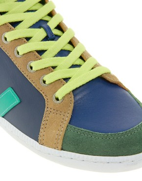 Image 4 ofVeja x Domino SPMA Multi-coloured Nautico High Top Trainers