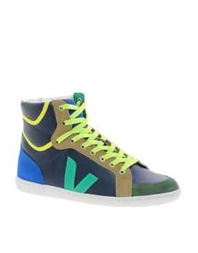 Image 1 ofVeja x Domino SPMA Multi-coloured Nautico High Top Trainers