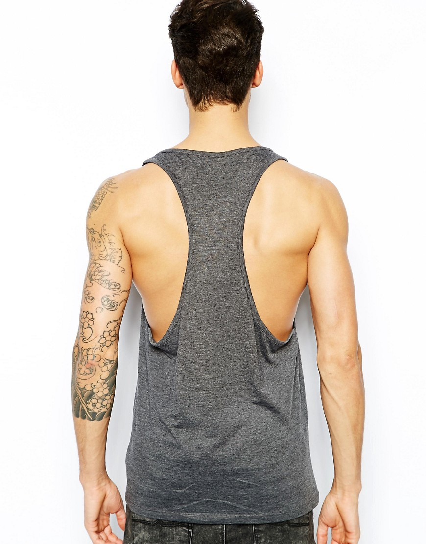 Image 2 of ASOS Vest With Contrast Pocket And Extreme Racer Back