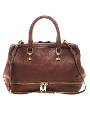 Image 1 ofASOS Leather Doctors Bag
