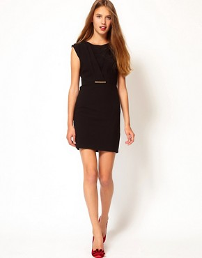 Image 4 ofA Wear Clasp Front Shift Dress