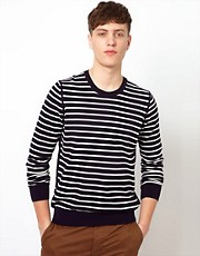 Ben Sherman Stripe Sweater with Crew Neck