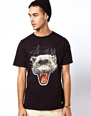 Stussy T-Shirt Panther Logo
