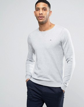 Hilfiger Denim Jumper with Crew Neck In Grey