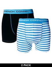 French Connection  Gestreifte Unterhosen im 2er-Pack