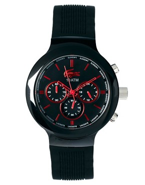 Image 1 ofLacoste Black Rubber Strap Watch