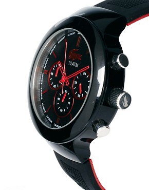 Image 4 ofLacoste Black Rubber Strap Watch