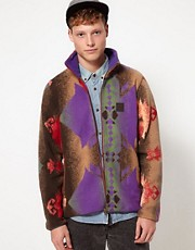 Sprayway Fleece Jacket With Aztec Print - EXCLUSIVE