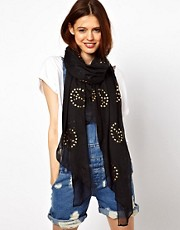 ASOS Studded Peace Sign Scarf