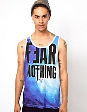 Sin Star Vest with Fear Nothing Print