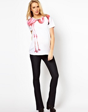 Image 4 ofASOS Maternity Flamingo T-Shirt