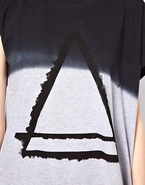 Image 3 ofEleven Paris Assymetric Tee with Triangle Print