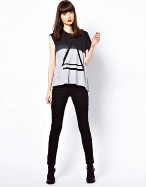 Image 4 ofEleven Paris Assymetric Tee with Triangle Print