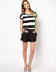 Markus Lupfer Silk Embroidered Shorts