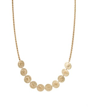 Image 1 ofSusan Caplan Exclusive For ASOS Vintage 80s Coin Necklace
