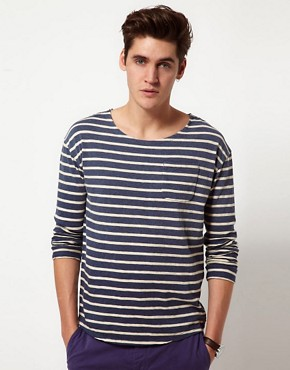 Image 1 ofScotch &amp; Soda Breton Stripe Long Sleeve T-Shirt
