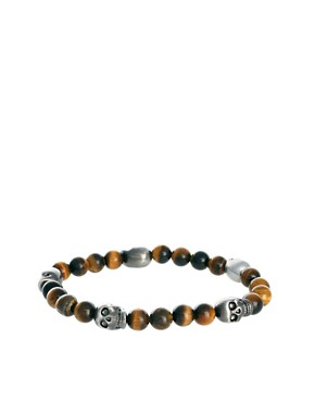 Image 1 ofSimon Carter Beaded Skull Bracelet Exclusive to ASOS