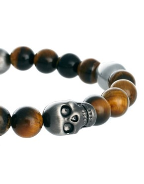 Image 3 ofSimon Carter Beaded Skull Bracelet Exclusive to ASOS