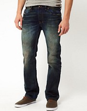 Diesel - Larkee 0075L - Jeans regular fit con lavaggio Laundry Wash