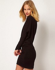Selected Sweat Dress with Pleat Detail