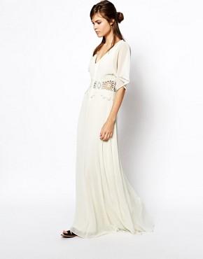 ASOS Maxi Dress with Crochet Waist Detail