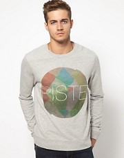 ASOS Sweatshirt With Piste Print