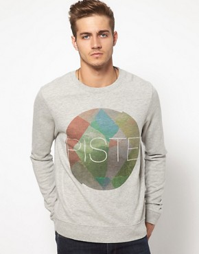 Image 1 of ASOS Sweatshirt With Piste Print