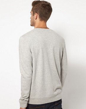 Image 2 of ASOS Sweatshirt With Piste Print