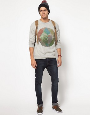 Image 4 of ASOS Sweatshirt With Piste Print