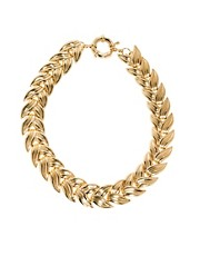 ASOS Linked Leaf Necklace