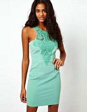 Lipsy Lace Collar Body-Conscious Dress