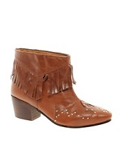 ASOS ARCHERY Fringe Western Boots