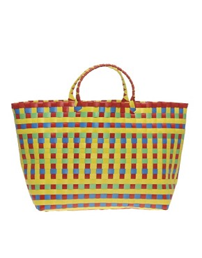 Image 1 ofASOS Weave Tote Shopper