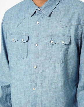 Image 3 of55DSL Shirt Rainbow Chambray