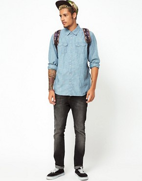 Image 4 of55DSL Shirt Rainbow Chambray