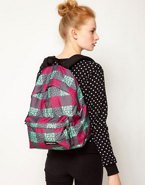 Image 3 ofEastpak Blossom Check Print Authentic Backpack