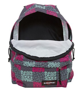 Image 4 ofEastpak Blossom Check Print Authentic Backpack