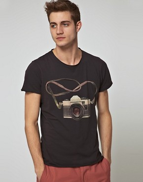 Image 1 of Jack & Jones Intelligence Travel Camera T-Shirt