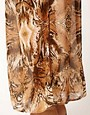 Image 3 ofRiver Island Animal Drape Maxi Skirt