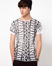 Unconditional T-Shirt with Snake Print