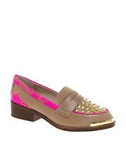 KG Lasso Leather Studded Loafers